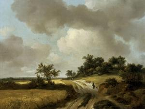 Landscape with Figures on a Path, c.1746-48 by Thomas Gainsborough