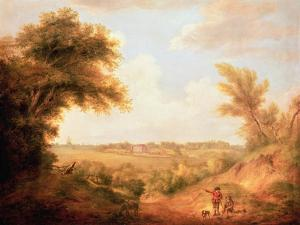 Landscape with House, 18th Century by Thomas Gainsborough