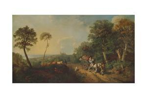 'Landscape with Market Cart', 18th century, (1935) by Thomas Gainsborough