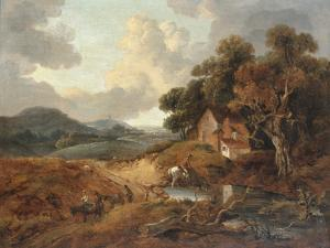 Landscape with Rustics and Donkeys on a Path by Thomas Gainsborough