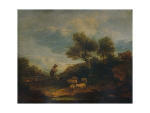 'Landscape with Sheep', 18th century, (1935) by Thomas Gainsborough