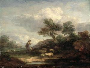 Landscape with Sheep by Thomas Gainsborough