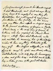 Letter from Thomas Gainsborough to Lord Hardwicke, C1760-1770 by Thomas Gainsborough