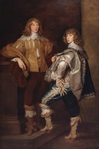 Lords John and Bernard Stuart, after Anthony Van Dyck, C.1760-70 by Thomas Gainsborough