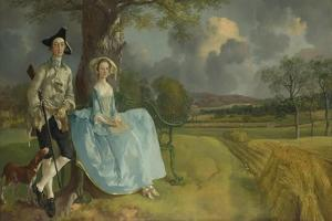 Mr and Mrs Andrews, 1750 by Thomas Gainsborough