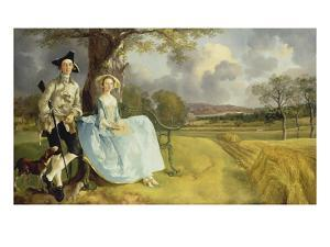Mr and Mrs Andrews, about 1750 by Thomas Gainsborough