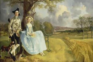 Mr and Mrs Andrews. About 1750 by Thomas Gainsborough