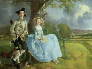 Mr. and Mrs. Andrews, circa 1748-9 (Detail) by Thomas Gainsborough