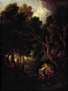 Pipe-Smoking Farmer Outside Doorway of His Cabin by Thomas Gainsborough