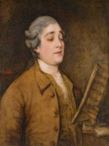 Portrait of Giusto Ferdinando Tenducci (C.1734-90) Castrato Singer and Composer, C.1773-75 by Thomas Gainsborough