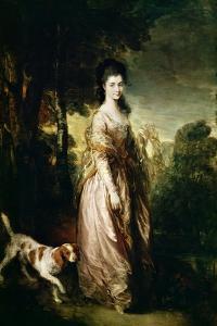 Portrait of Mrs. Lowndes-Stone circa 1775 by Thomas Gainsborough