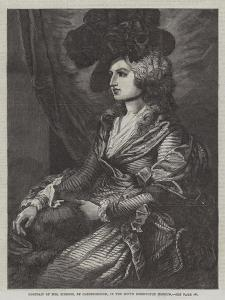 Portrait of Mrs Siddons, in the South Kensington Museum by Thomas Gainsborough