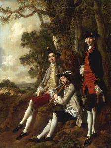Portrait of Peter Darnal Muilman, Charles Crockatt and William Keeble by Thomas Gainsborough