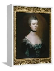 Portrait of the Countess of Sussex, Bust Length, in a Blue Dress with Black Facings by Thomas Gainsborough