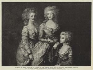 Portraits of Three Daughters of George Iii by Thomas Gainsborough