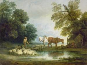 Shepherd by a Stream by Thomas Gainsborough