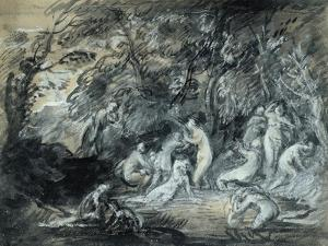 Study for Diana and Actaeon, C.1784 by Thomas Gainsborough