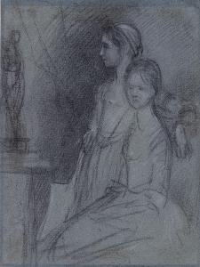 Study of the Artist's Daughters, C.1763 by Thomas Gainsborough