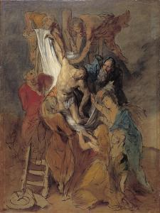 The Descent from the Cross after Rubens, Late 1760S by Thomas Gainsborough