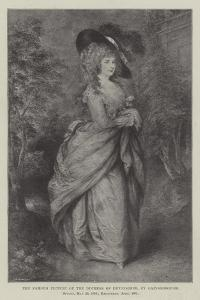 The Famous Picture of the Duchess of Devonshire by Thomas Gainsborough