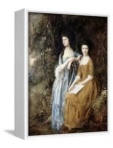 The Linley Sisters (Mrs. Sheridan and Mrs. Tickell) 1771/72 by Thomas Gainsborough
