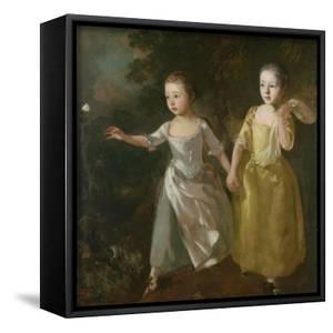 The Painter's Daughters Chasing a Butterfly, C.1759 by Thomas Gainsborough