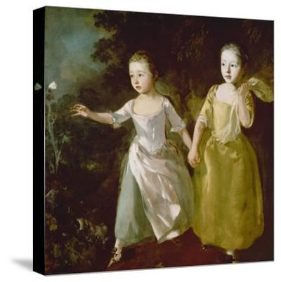 The Painter's Daughters Chasing a Butterfly. Probably About 1756