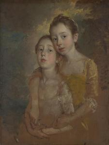 The Painter's Daughters with a Cat, Ca 1760 by Thomas Gainsborough