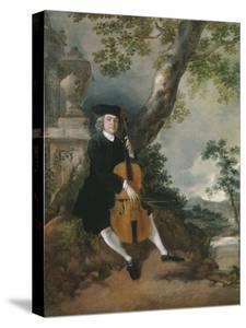 The Rev. John Chafy Playing the Violoncello in a Landscape by Thomas Gainsborough