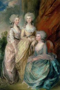 The Three Eldest Daughters of George III: Princesses Charlotte, Augusta and Elizabeth in 1784 by Thomas Gainsborough