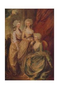 'The Three Eldest Princesses: Charlotte, Princess Royal, Augusta and Elizabeth', c1783 by Thomas Gainsborough