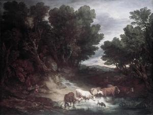 The Watering Place by Thomas Gainsborough