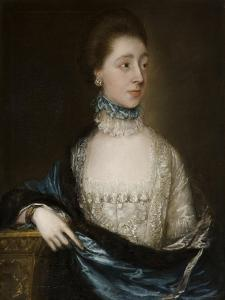 Unknown Lady with a Blue Cloak, C.1765 by Thomas Gainsborough