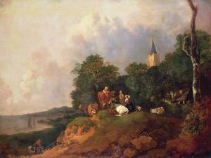 View Near the Coast, C.1750-55 by Thomas Gainsborough