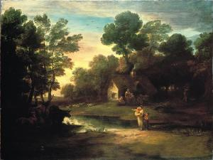 Wooded Landscape with Cattle by a Pool, 1782 by Thomas Gainsborough