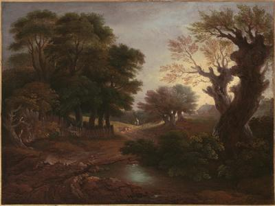 Wooded Landscape with Drover and Cattle and Milkmaids, C.1772
