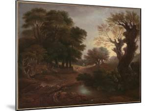 Wooded Landscape with Drover and Cattle and Milkmaids, C.1772 by Thomas Gainsborough