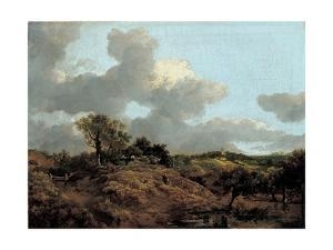 Wooded Landscape with Herdsman Seated, C.1748 by Thomas Gainsborough