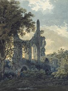 Byland Abbey, Yorkshire, C.1793 (Watercolour Touched with Black Ink over Indications in Graphite) by Thomas Girtin