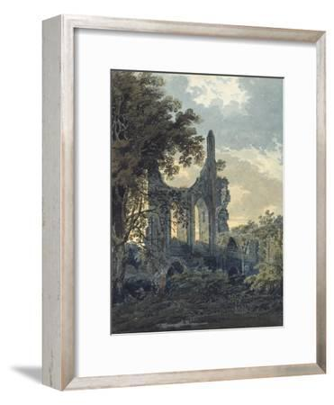 Byland Abbey, Yorkshire, C.1793 (Watercolour Touched with Black Ink over Indications in Graphite)
