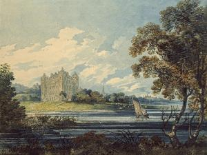 Duff House, Banff, 1794 (Watercolour, with Some Scratching Out, over Indications in Graphite) by Thomas Girtin
