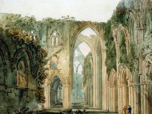 Interior of Tintern Abbey by Thomas Girtin