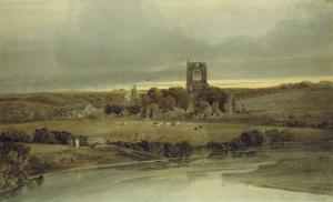 Kirkstall Abbey, Yorkshire, 18th Century by Thomas Girtin