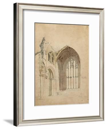 Melrose Abbey: the East Window, c.1770