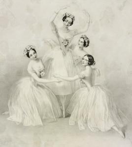 Pas de Quatre, Her Majesty's Theatre, c.1845 by Thomas H. Maguire