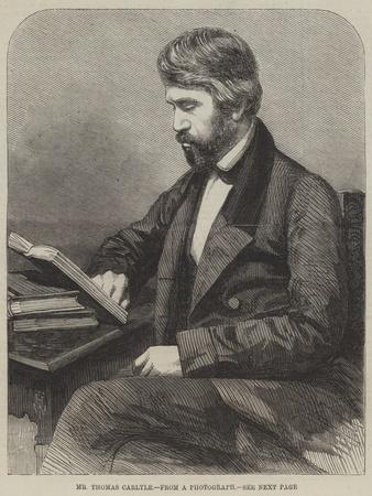 Mr Thomas Carlyle