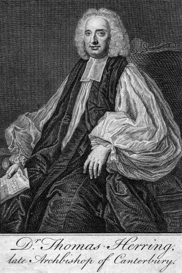 Thomas Herring (1693-175), Archbishop of Canterbury--Giclee Print