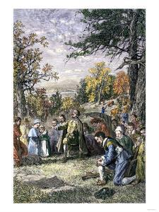 Thomas Hooker's Congregation Migrates from Massachusetts to Settle Hartford, Connecticut, 1636