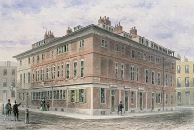 Old House in New Street Square by Thomas Hosmer Shepherd