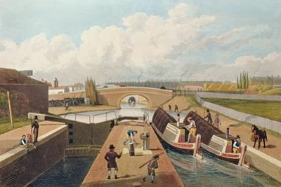 Regent's Canal, the East Entrance to the Islington Tunnel, C.1827, Engraved by John Cleghorn by Thomas Hosmer Shepherd